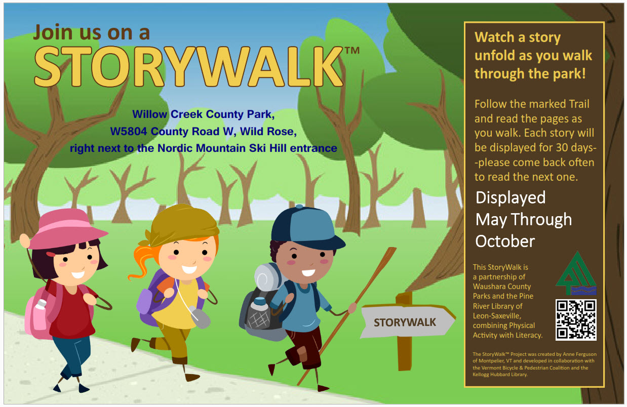 Story Walk is Back.  Explore with Little Critter this month.