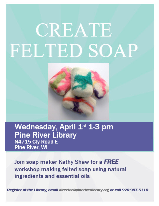 Felted Soap--to be rescheduled at a later date.