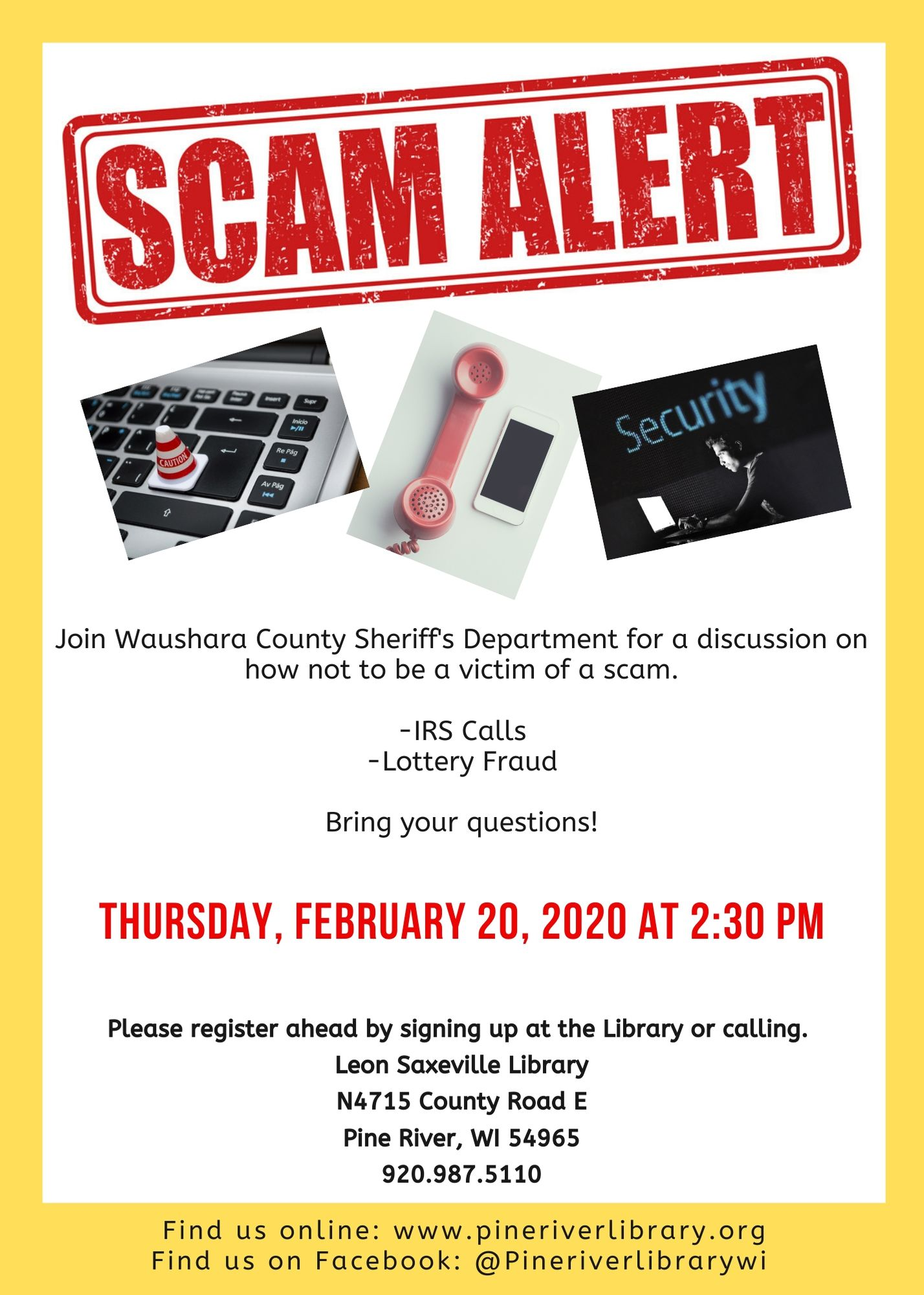 Scam Presentation By Waushara County Sheriff's Department